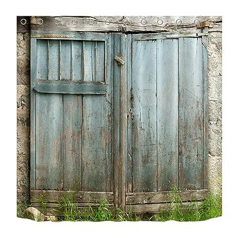 LB Personalizzare Stile country porta in legno azzurro chiaro Tenda ...
