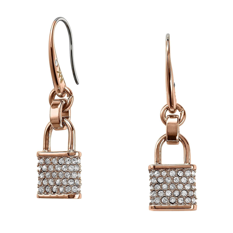 Michael Kors Pavé Rose Gold-tone Padlock Earrings