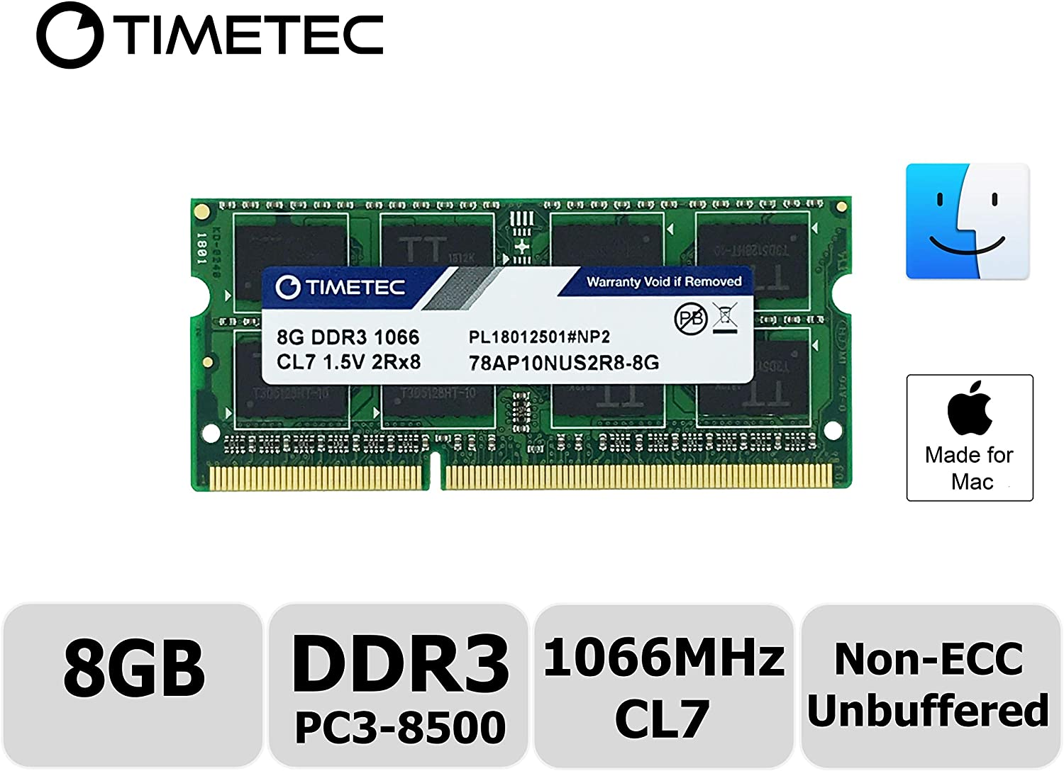Memoria Sodimm Para Macbook  Ddr3 Pc3-8500 1067mhz / 1066mhz
