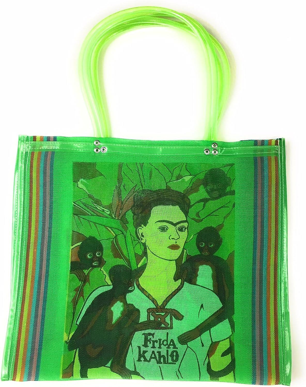 Frida Kahlo – Bolso, bolsa de la compra de la compra, bolsa de la compra de México, Mexican Folk Art, 100% reciclado de botellas de plástico, Eco-friendly bolsa, gran bolsa de la