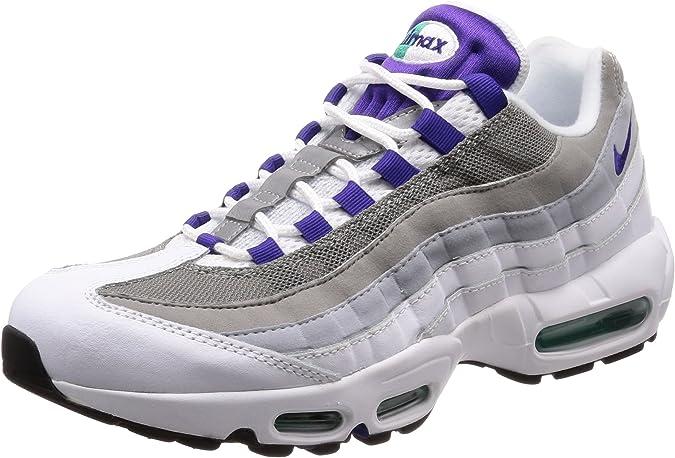Nike Wmns Air MAX 95, Zapatillas de Cross para Mujer, Multicolor (Blanco/Verde Esmeralda/Gris Lobo/Morado Cancha 109), 40.5 EU: Amazon.es: Zapatos y complementos