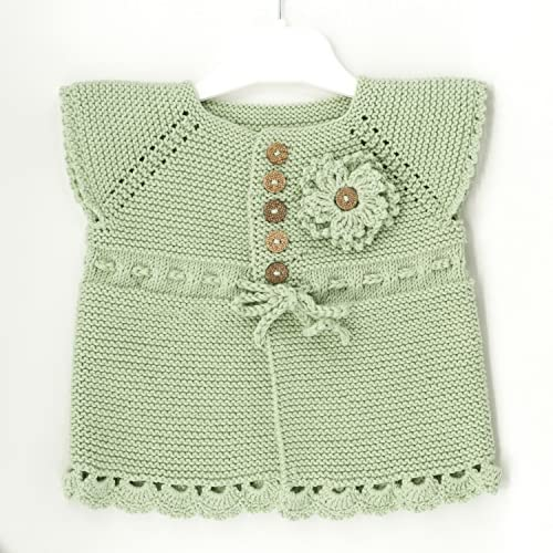 46988f116 Amazon.com  Hand Knitting Baby Girl Sweater Set for Summer - 3 ...