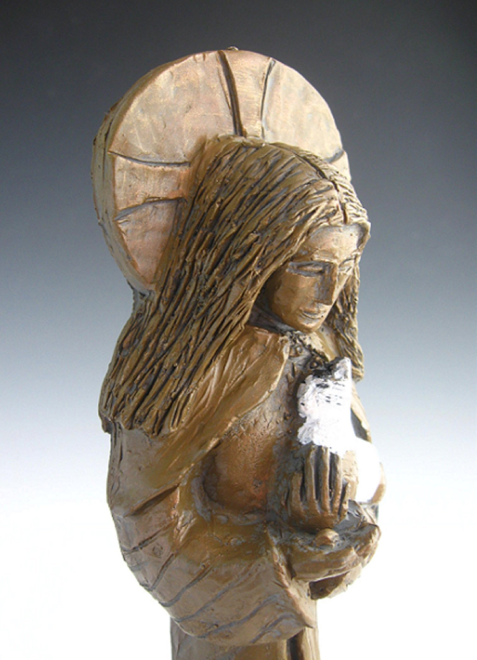 Julian of Norwich, Patron of Cats and Contemplatives: Handmade Statue