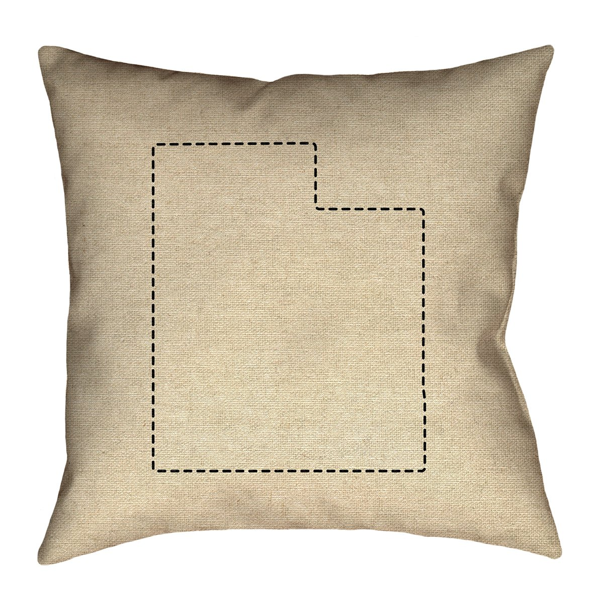 ArtVerse Katelyn Smith 28' x 28' Floor Double Sided Print with Concealed Zipper & Insert Utah Outline Pillow SMI406F2828L