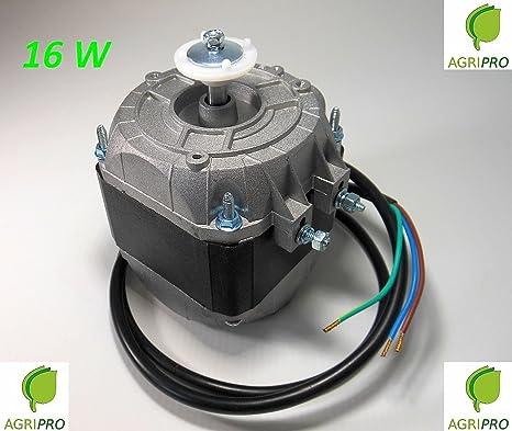 Motor con ventilador pentavalente W 16, compresor de nevera, electroventilador