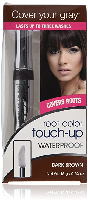 Amazon.com: Cover Your Gray Waterproof Root Touch-Up - Dark Brown ...