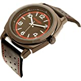 Wrangler Men's Watch, 44mm with Cushion Shaped Case, Polyurethane Strap, Water Resistant