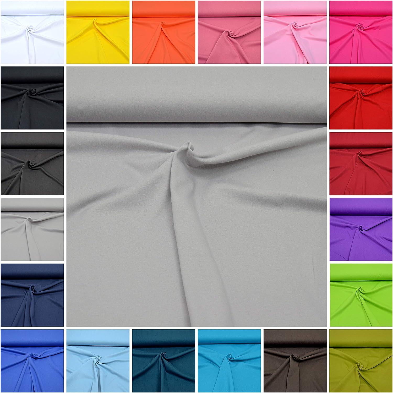 Tessuto in jersey interlock a tinta unita Micha, 100% cotone, di alta qualità, tessuto al metro a partire da 50cm 02. Gelb MAGAM-Stoffe