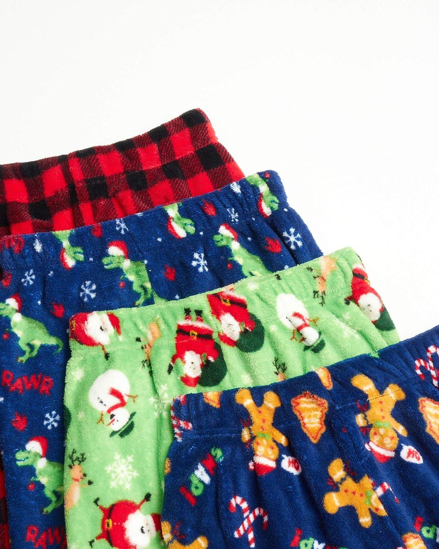 Tuff Guys Boys Sleepwear Christmas//Plaid Size 10//12 4 Pack Micro-Fleece PJ Pajama Bottoms Pants Set