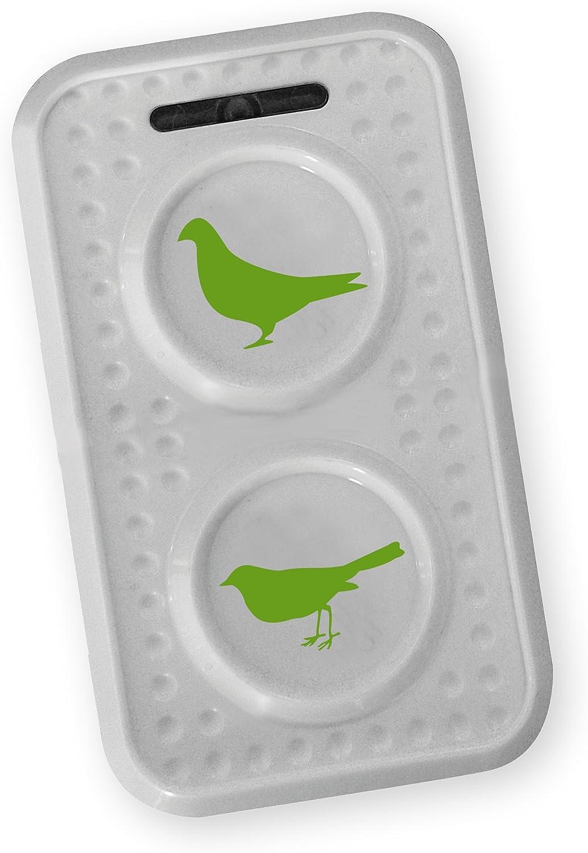 Isotronic móvil palomas/Pájaro Ahuyentador con ultrasonido para Granero, Jardín, Auto y Garaje, especialmente alta frecuencia de cambio de tonos, contra costumbre Efecto, funciona con pilas