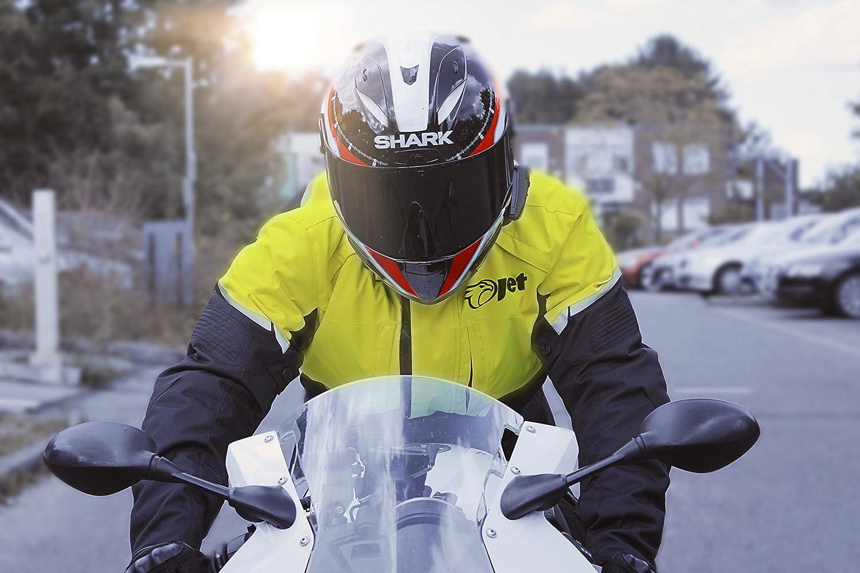 JET Motorcycle Motorbike Jacket Mens Textile Waterproof CE Armoured Tourer 36-38 Blue, S