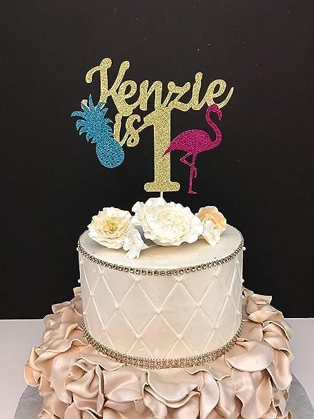 Decoración para tarta de boda, piña, cualquier nombre y edad ...