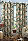 Home FURNISHINGS Faux Silk Candy 9 ft Door Curtain (Aqua)