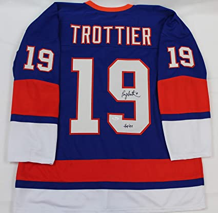 543b0f51c Bryan Trottier Autographed Blue New York Islanders Jersey - Hand Signed By  Bryan Trottier and Certified
