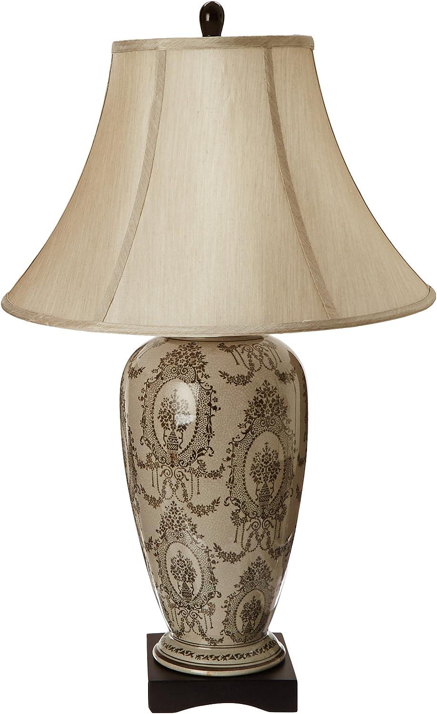 "Oriental Furniture 29"" Victorian Porcelain Vase Lamp"