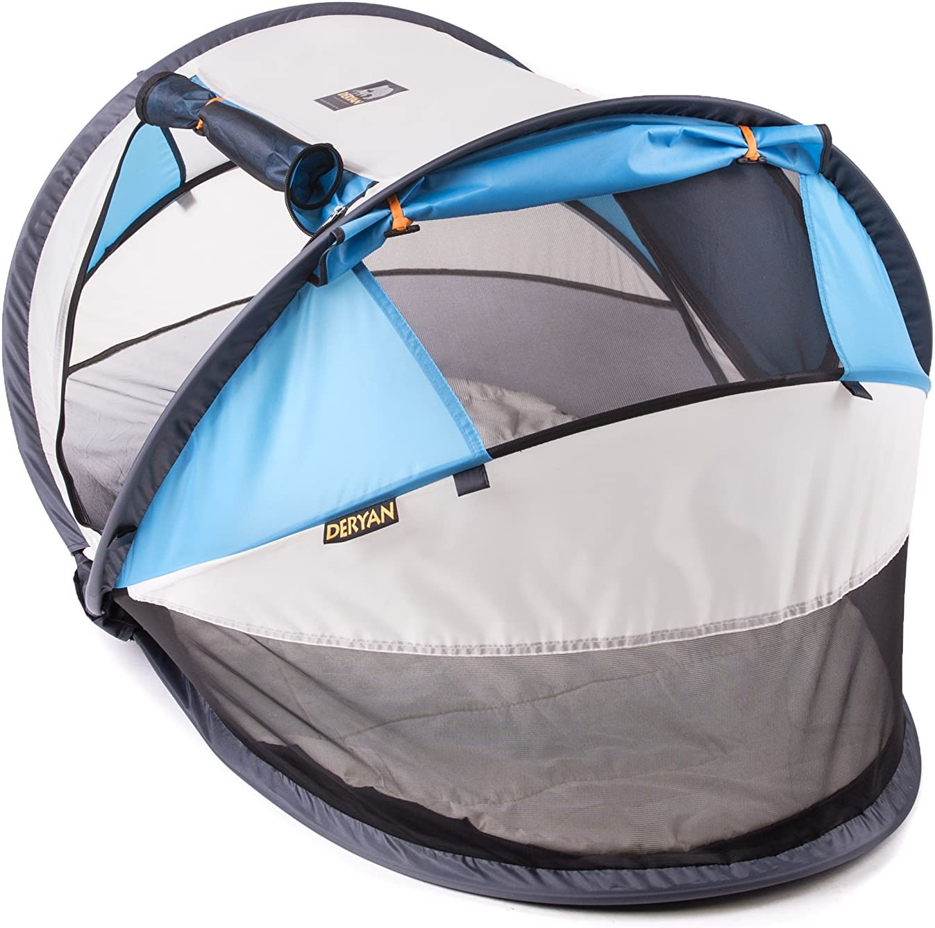 beige Deryan PL CR-Blue Travel Cot Lit de voyage peuter Luxe Kaki