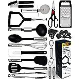 Home Hero 25pc Kitchen Utensil Set - Nylon & Stainless Steel Cooking Utensils - Non-Stick Kitchen Utensils with Spatula - Kit
