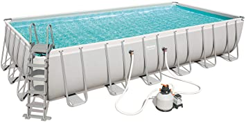 Bestway 56475 Power Steel Rectangular Pool 732 x 366 x 132 cm ...