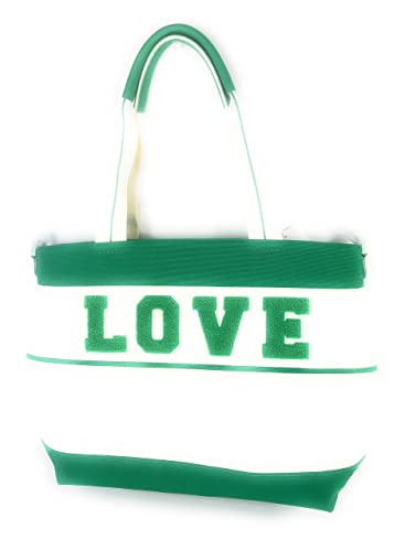 e740b0eaa96 Tory Burch Love Leather and Nylon Love Tote Green Vinyard New Ivory   Handbags  Amazon.com