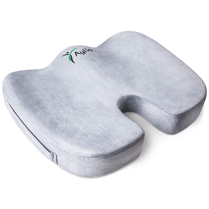 Aylio Coccyx Orthopedic Cushion for Tailbone Pain - The Lightweight and Convenient
