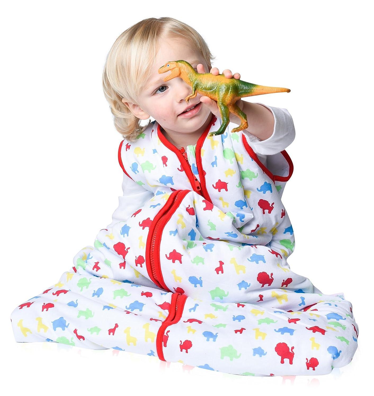 Snoozebag Jungle Fun 100% Cotton 2.5 Tog Unisex Nursery Baby Sleeping Bag Multi-Coloured 18-36 Months (110cm) Babycurls SB-JF