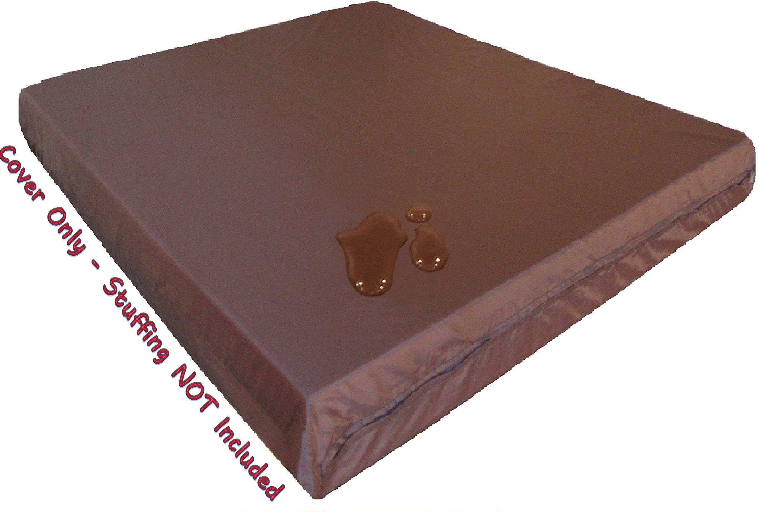 "Dogbed4less 1 Pack Internal Duvet Case Waterproof Zipper Dog Bed Cover for Jumbo/XXXL Large 55""x47""X4"" Memory Foam Pad Pet Bed - 59""x51"" FLAT"
