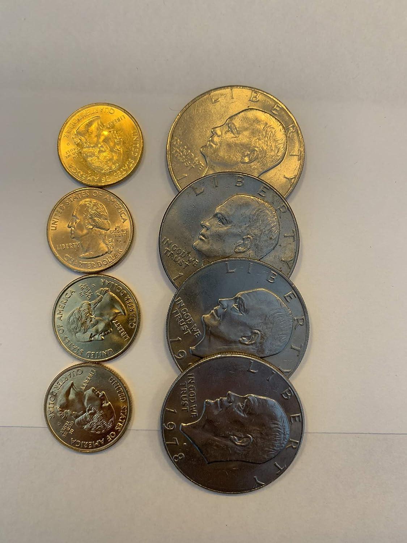 1973-1978 S Eisenhower Dollar DCam Proof Coin Run CN-Clad Ike  6 Coin Lot