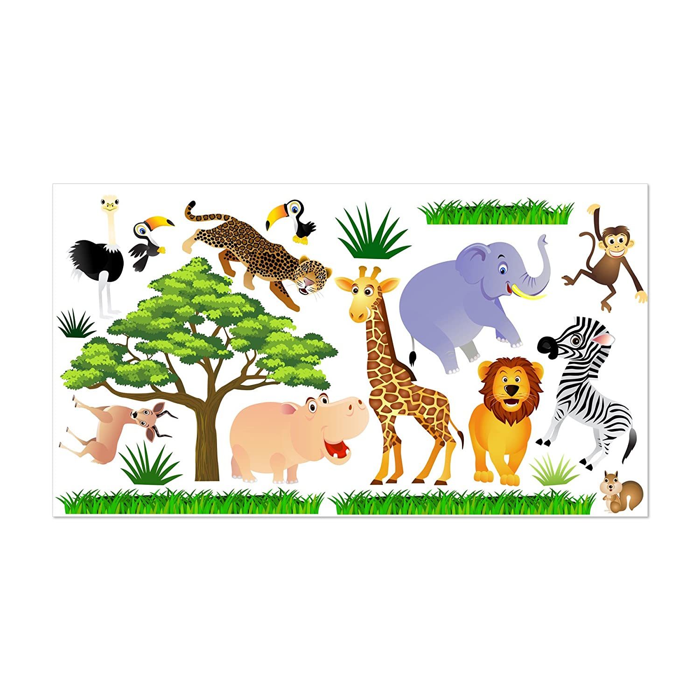 Wandtattoo Fürs Kinderzimmer, Baby. Sticker Aufklebr Aufklebr Aufklebr Tiere, Safari - SDB1 (L - 150 x 84 cm) 85c200