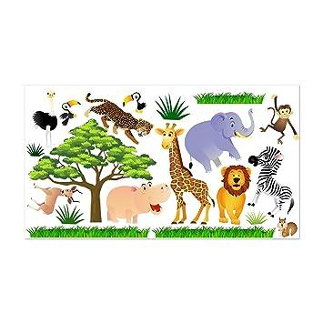 Wandtattoo Fürs Kinderzimmer, Baby. Sticker Aufklebr Tiere, Safari ...
