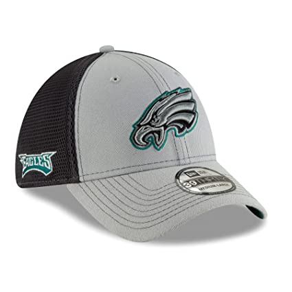 online retailer 5e140 f9b2a Image Unavailable. Image not available for. Color  New Era Philadelphia  Eagles NFL 39THIRTY 2T Sided Flex Fit Meshback Hat - Gray