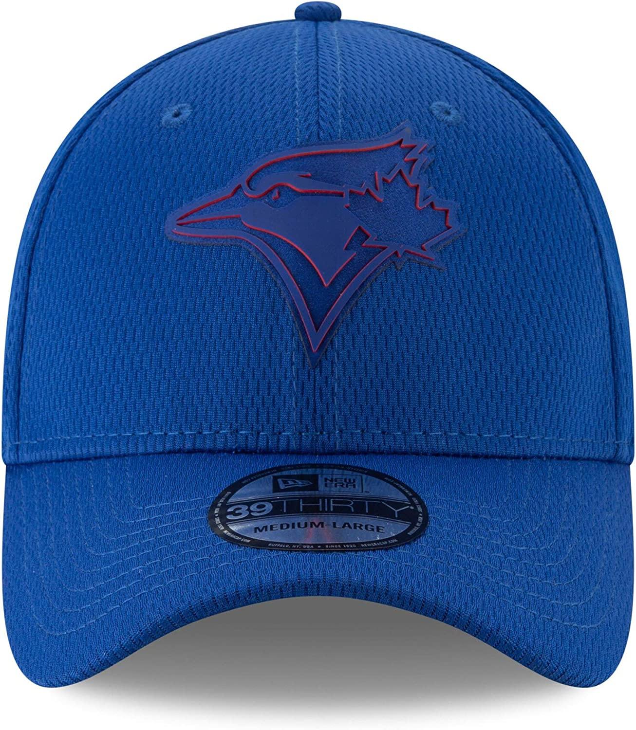 Blue Hat New Era Toronto Blue Jays 39THIRTY Clubhouse Collection Stretch Fit Cap