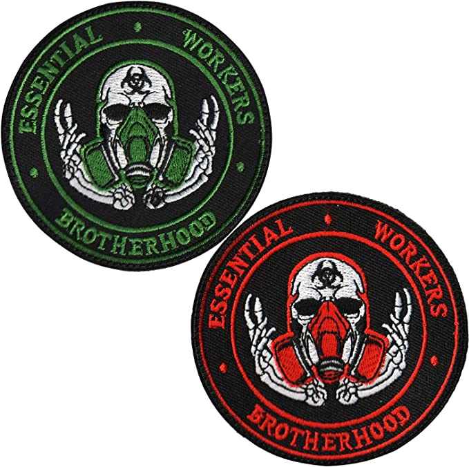 """Essential worker 3/""""/"""" dia multi color embrodered iron  patch FREE SHIPPING"""
