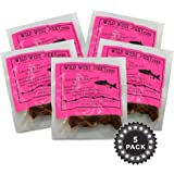 BEST Fresh Wild Caught King Smoked Salmon Squaw Candy Savory Deliciousness 2 OZ. Jerky – Natural Flavoring - Buy Multiple Packs and Save! (Smoked Salmon, Smoked Salmon 5 Pack)