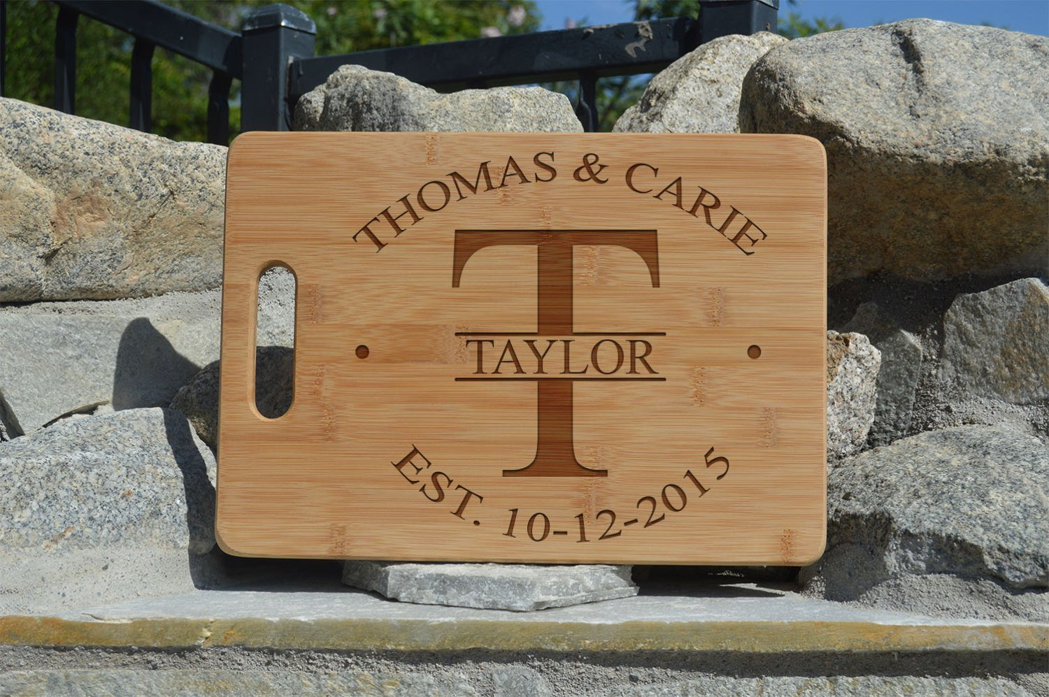 Personalized bamboo cutting board engraved custom boards Personalized Mothers' Day Gift For Mother Love Present Engraved Gift (NAME)