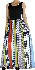 740753cb4f51 YSJ Women's Striped Chiffon Summer Bohemia Long Maxi Dress Sundress