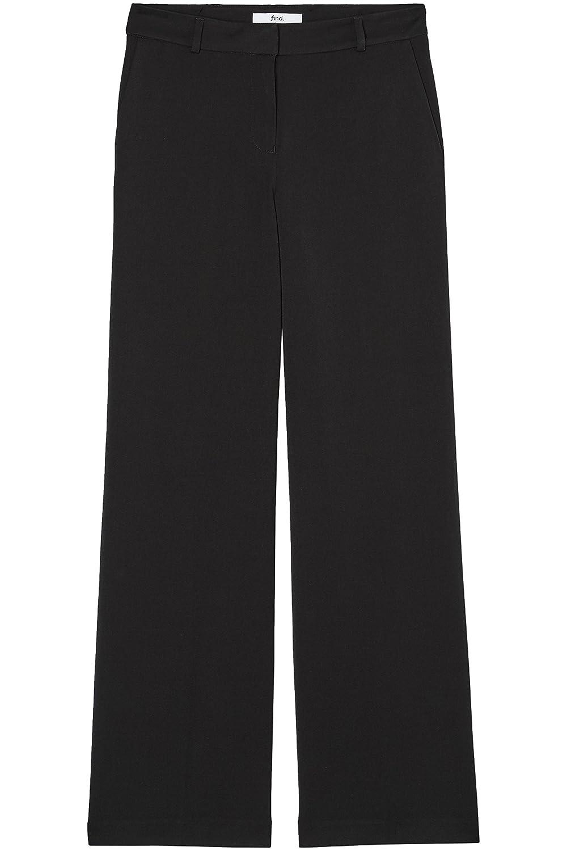Marca Amazon - find. Pantalones de Pata Ancha para Mujer