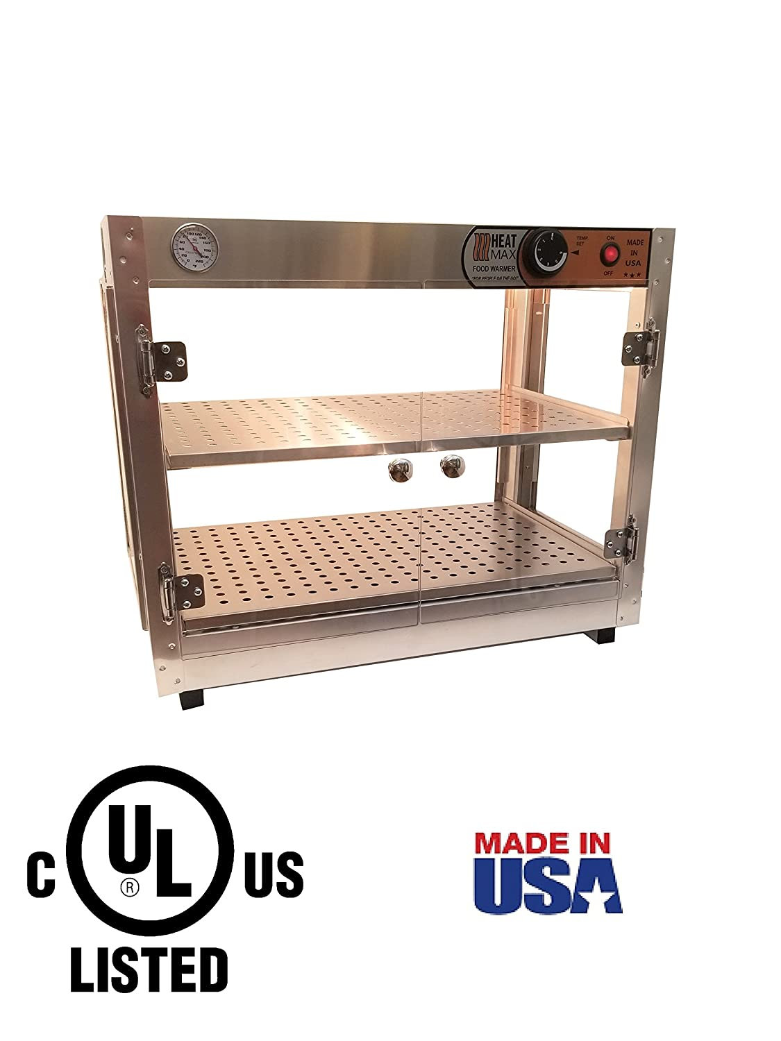 HeatMax 24x15x20 Commercial Food Warmer, Pizza, Pastry, Patty, Empanada, Catering, Concession, Fund Raising, Heated Display Case
