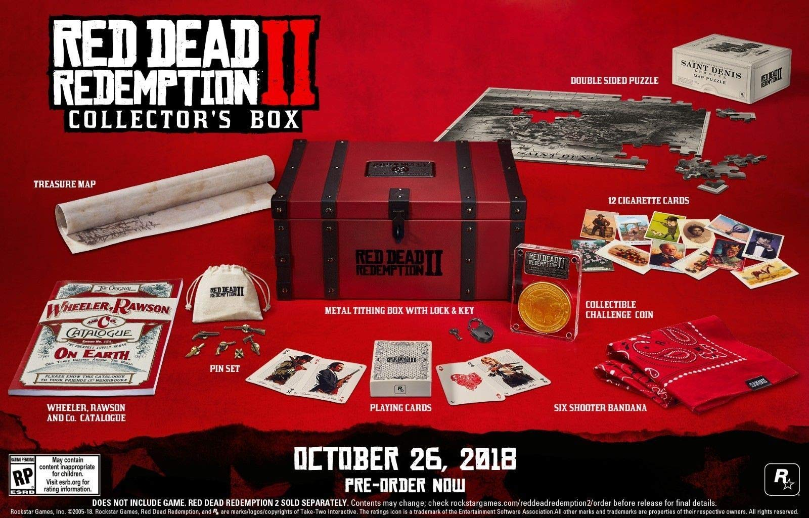 Amazon com: Red Dead Redemption 2 Collector's Box - NO GAME