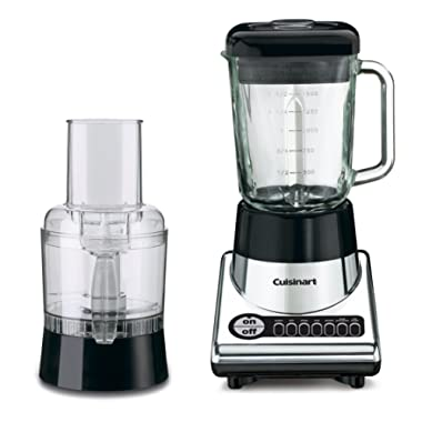 Cuisinart BFP-10CH PowerBlend Duet Blender Food Processor (Chrome/Black)
