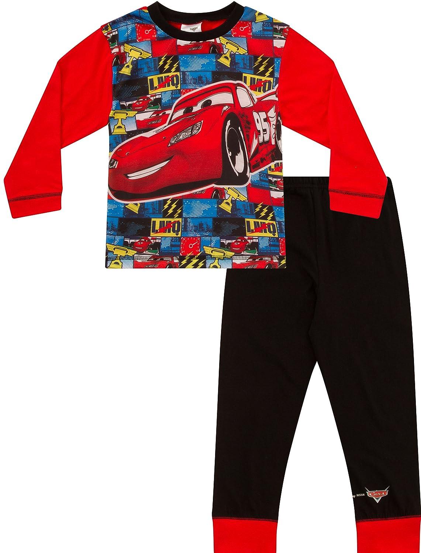 Pigiama a maniche lunghe e pantaloni lunghi, motivo: personaggio McQueen del film Disney Cars, per bambini dai 2ai 7anni, vita: 40 cm