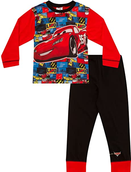 Disney Cars Pijama 2 A 7 años McQueen Cars pijama Disney Long coches Pjs W16 Rojo