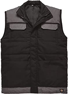 Water Resistant BW7004 Grey Black Dickies Crayford Work Gillet Bodywarmer