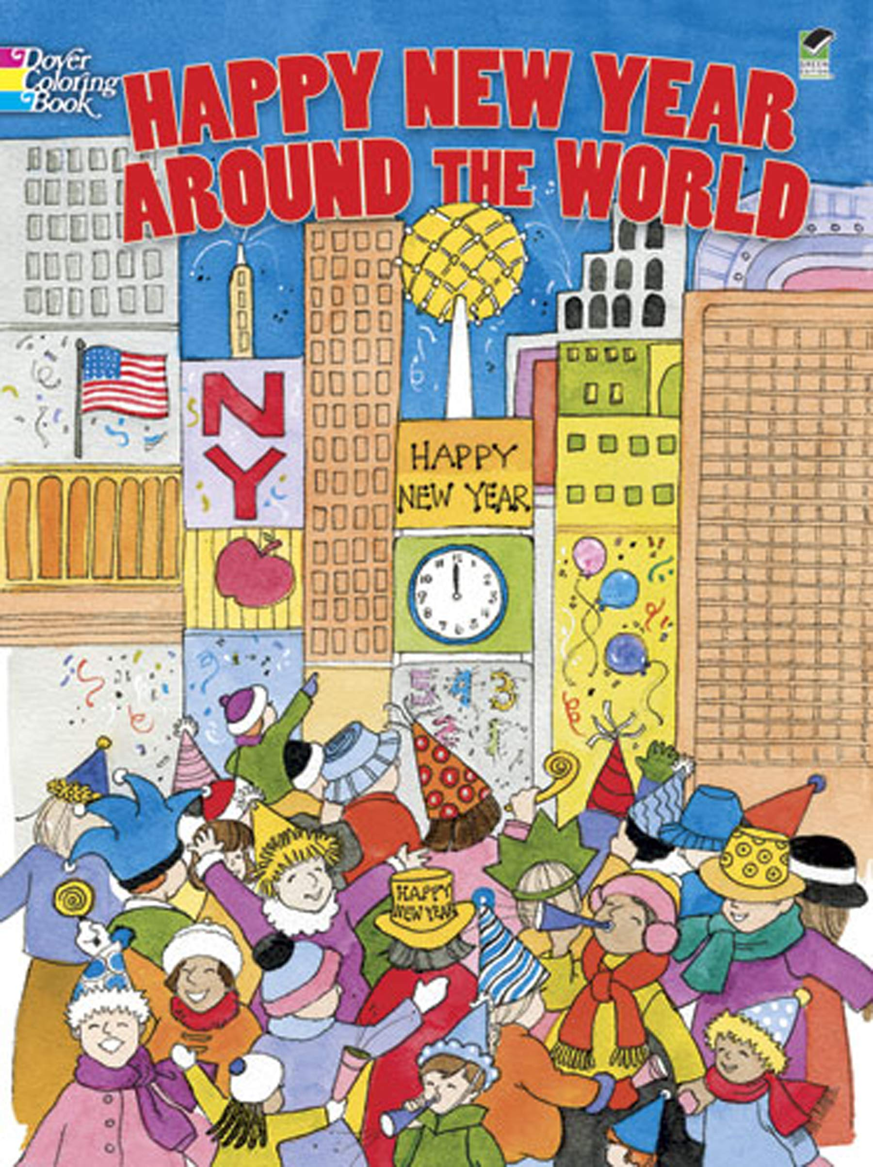 Happy New Year Around the World (Dover Holiday Coloring Book ...