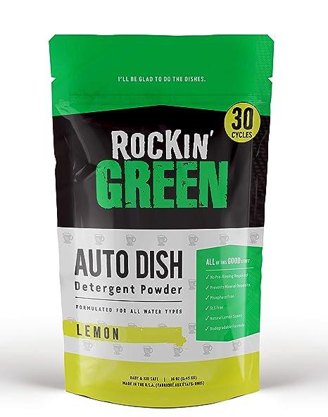 Amazon.com: Rockin verde Auto Plato lavaplatos detergente ...