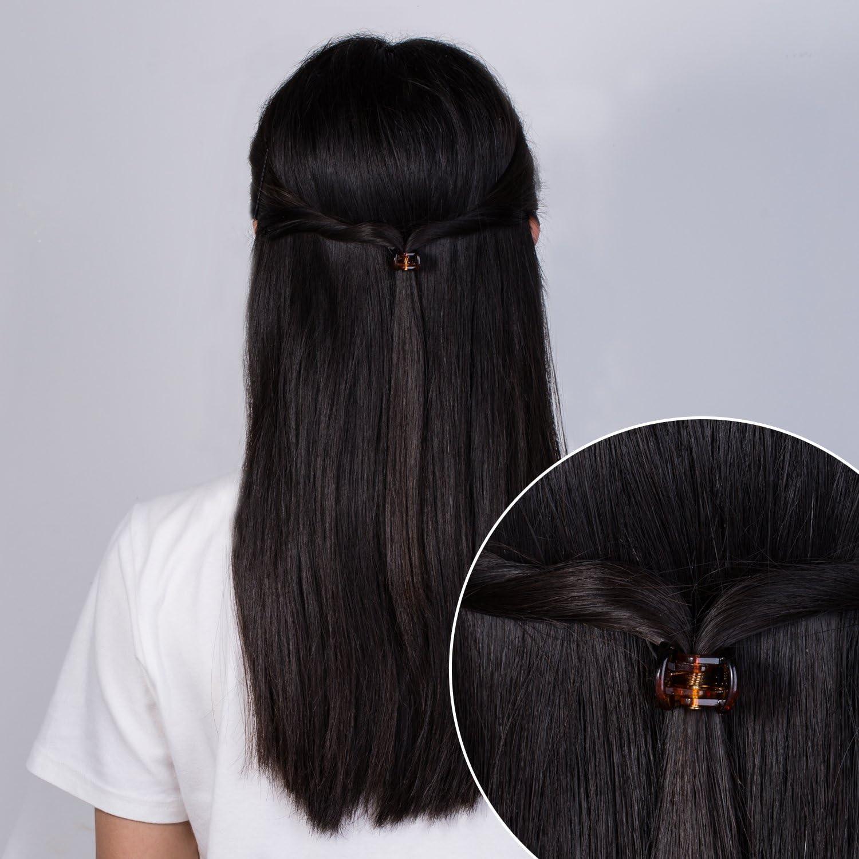 Carte de 36 Noir Métallique à Cheveux Clips Bobby Grips 6 mm Poignées de femmes ou filles