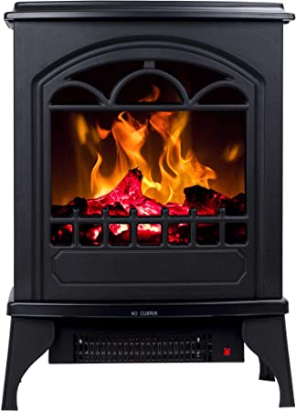 Free Standing Electric Fireplace Hoover Led Fire Simulation 900 W Or 1950 W Amazon De Baumarkt