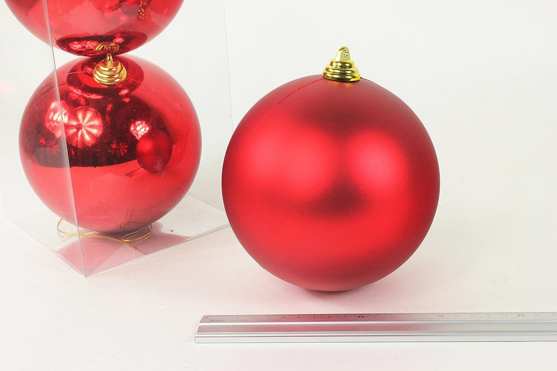 Christbaumkugeln Rot 15 Cm.Amazon De Weihnachtskugeln Kunststoff 3 Stück Rot 15 Cm