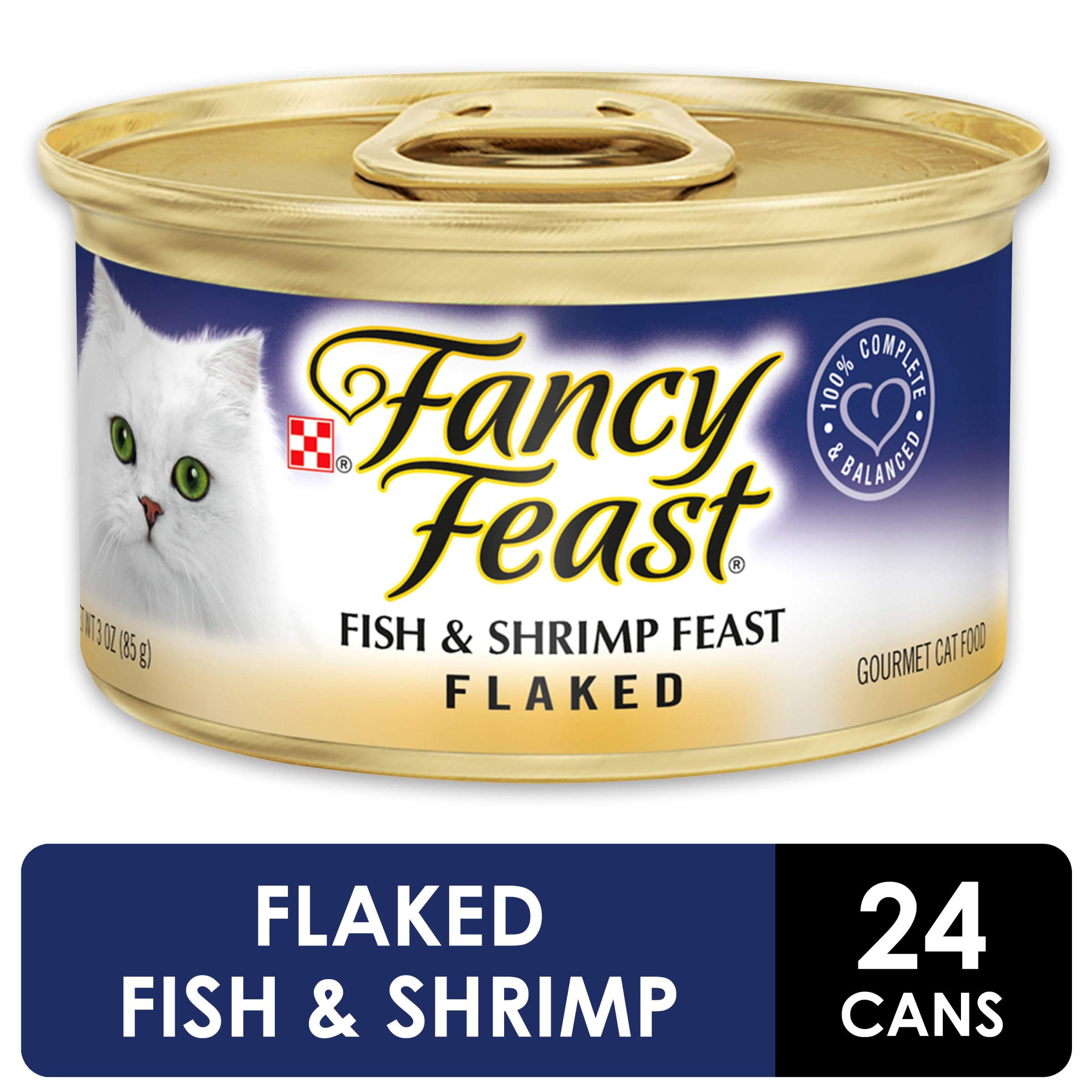 Purina Fancy Feast Wet Cat Food, Flaked Fish & Shrimp Feast - (24) 3 oz. Cans by Purina Fancy Feast