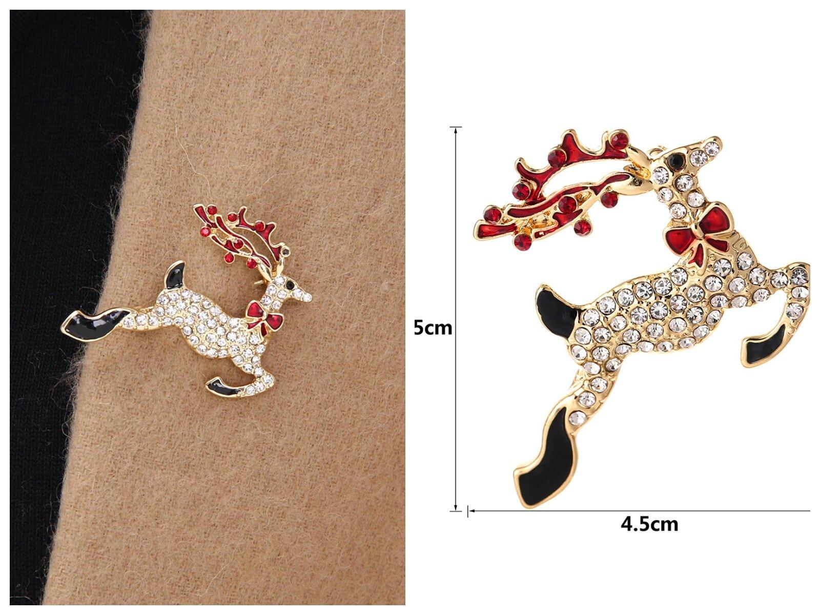 YSD Christmas Brooch Pins set Holiday Brooch Xmas Pin Lot Party Favor set christmas tree pins set by YSD (Image #5)