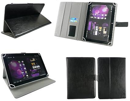 Emartbuy® bq Edison 3 10.1 Inch Tablet Universal Series Negro Ángulo Múltiples Executive Folio Funda Carcasa Wallet Case Cover con Tarjeta Crédito ...